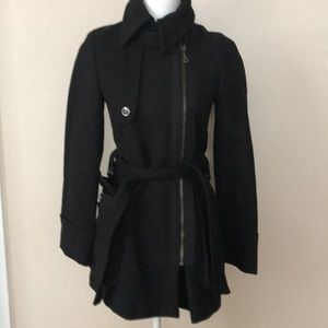 EUC Zara black stylish coat
